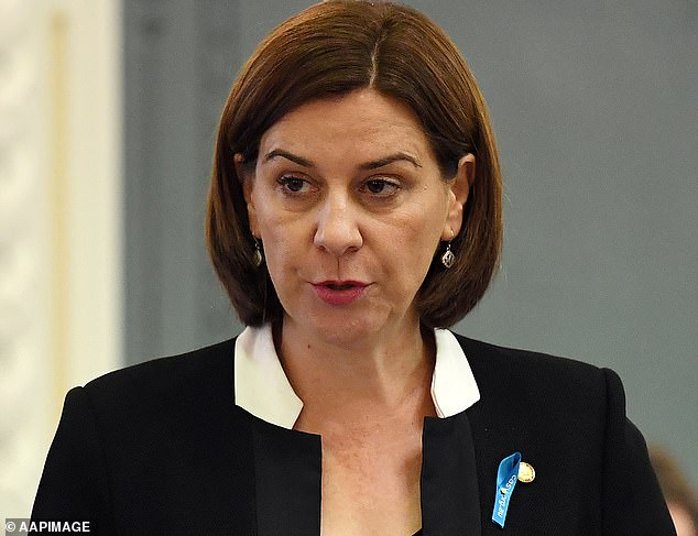 6633004 6428011 Queensland s LNP Opposition Leader Deb Frecklington said she was m 22 1543193833581