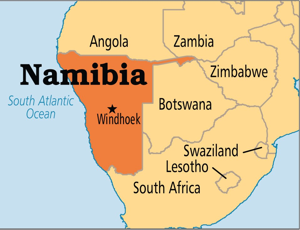 Namibia map
