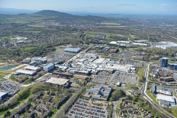 PAY PROD An aerial view of the Shropshire town of Telford