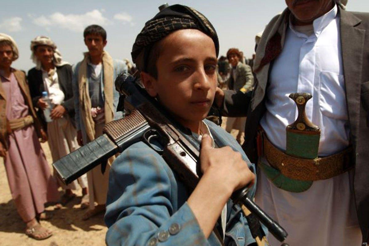 child soldier in yemen recruited by houthi